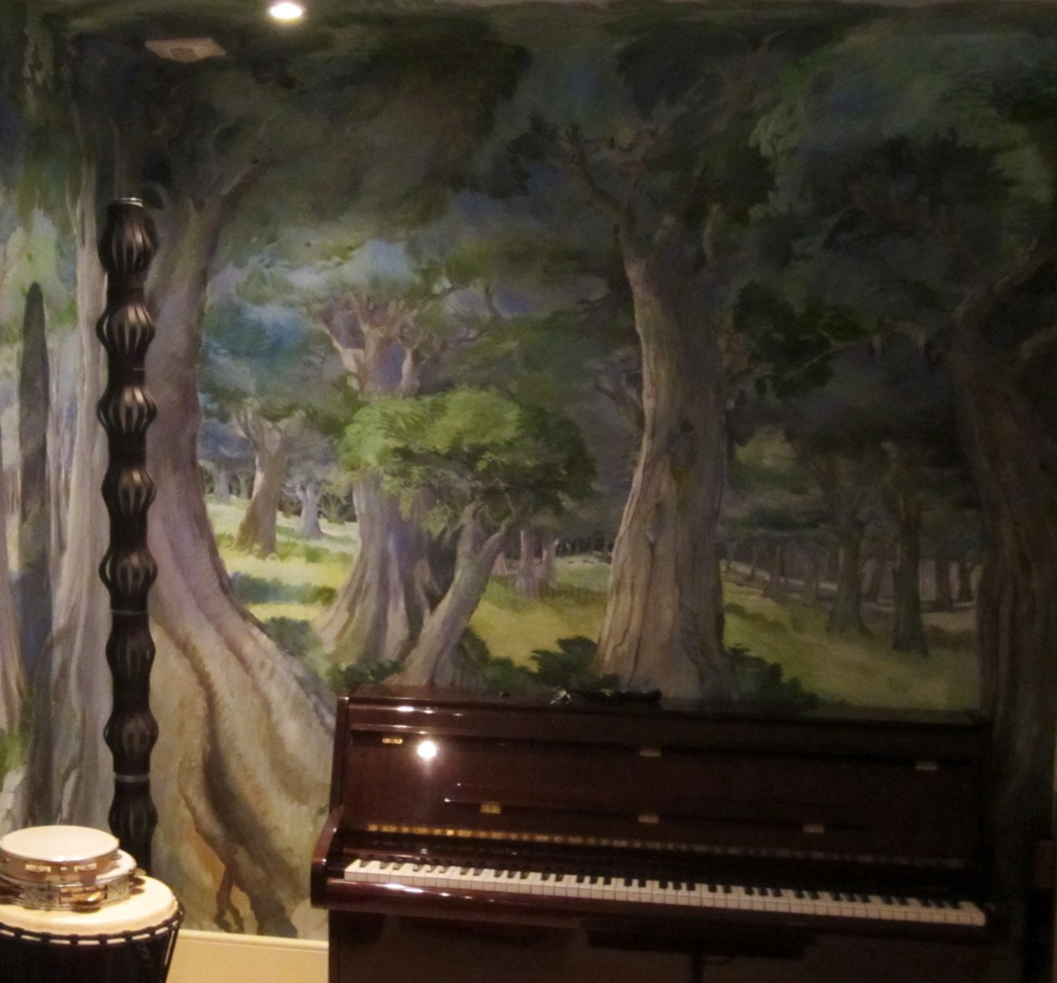 """Philippe Metaireau - """"The Enchanted Forest"""" Mural in music room"""