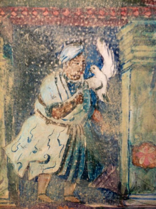 """One of Shah Jahan's guests"".  Detail"